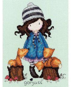 Gorjuss The Foxes Cross Stitch Kit £23.00 | Past Impressions | Bothy Threads
