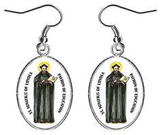 "St Ignatius of Loyola of Education 1"" Silver Hypoallergenic Stainless Steel Earrings"