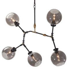Corvus Pendant Lamp, Gray