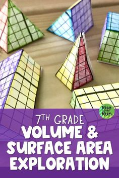 My 7th graders lover this geometry project!  Students get hands-on experience working with nets, surface area, and volume. Engaging, plus it will help create a conceptual understanding of 3D figures and their attributes.The project has 6 parts plus a sheet of challenges. 7.G.B.6