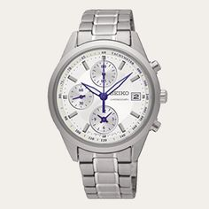 Price includes 10% GST.For shipping addresses outside of Australia, GST will be refunded upon shipment.Bank transfer price: AU$277.00    find out howSEIKO Chronograph Ladies watch.Quartz Movement.  36 mm case.  White dial, with Stainless Steel Bracelet.See Additional Information below for complete specifications.