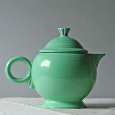 Modish Vintage Fiesta Teapot Sea Green