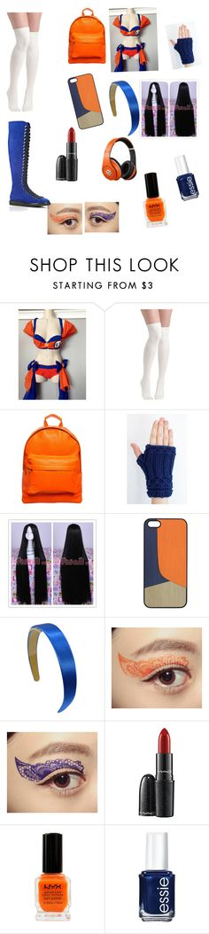 """Dragon ball z/Kai/gt for life"" by deliriousxdoc ❤ liked on Polyvore featuring Mi-Pac, Beats by Dr. Dre, Masquerade, MAC Cosmetics, NYX, Essie and Alexander Wang"