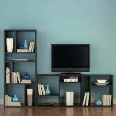 Bookcase/TV Stand - can be arranged horizontally, vertically, or one of each.