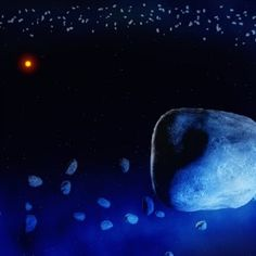 Astronomers have found the first evidence of icy comets orbiting a sunlike star 160 light-years from Earth.