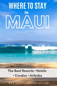 Wondering where to stay in Maui? This is the ULTIMATE guide to the best hotels, Airbnbs and condos in S. Maui, W. Maui, Central Maui, Road to Hana & Upcountry. Best Maui Resorts, Maui Hotels, Beach Hotels, Kaanapali Beach Hotel, Wailea Beach, Hawaii Travel Guide, Maui Travel, Travel Tips, Maui Accommodation