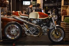 A Ducati Testastretta engine with exposed desmo belt drive looks the part in any cafe racer built – such as this one by South Garage