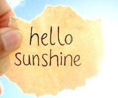 Laissons entrer le soleil ♥