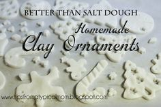 Tips from a Typical Mom: Better Than Salt Dough {Homemade Clay for Ornaments or Handprints}