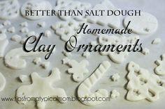 Better Than Salt Dough {Homemade Clay for Ornaments or Handprints}