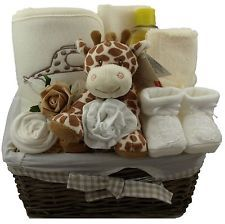 baby essentials unisex teddy bear hamper gift basket baby shower