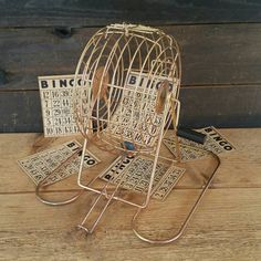 BINGO Ball Cage Bingo Spinner Game Room Decor Game by BrassAttics