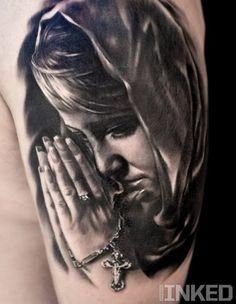 Praying #tattoo done by Oleg Shepelenko