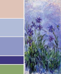 Claude Monet - Lilac irises; 1914.