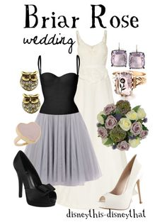 Briar Rose wedding  - Princess Aurora inspired - Love the dress for the Bridesmaids it's Perfect! - The bouquet shown could be for the maidens.  Sleeping Beauty needs pink in hers.