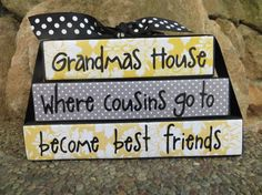 Grandmas House Block Stacker Mothers Day Gift  Fathers Day Gift Grandpas House on Etsy, $14.99
