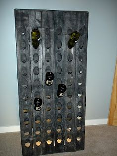 Wine rack out of old door