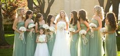Light Green Bridesmaids Dresses