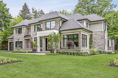 Luxury apartments are offering outrageous amenities to attract tenants . Small Mansions, Mansions Homes, Dream Home Design, Modern House Design, Style At Home, Dream House Exterior, Stone House Exteriors, Stone Exterior Houses, Modern Mansion