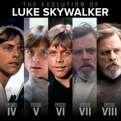 The Many Faces of Mark Hamill as Luke Skywalker! Star Wars Love, Star War 3, Mark Hamill, Star Wars Cast, Star Trek, Luke Skywalker, Calvin And Hobbes Comics, Princesa Leia, Han And Leia