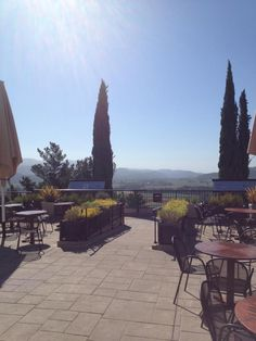 The view from the terrace at Sterling Vineyards, we can 't go to Napa without stopping here. Another Favorite.