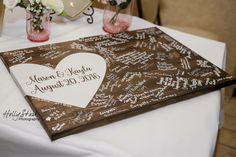 Alternative Hochzeit Holz Gästebuch Gästebuch von EastInADay