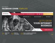 Internet Business Facebook Cover Template AI, EPS Facebook Cover Template, Busy At Work, Web Development, Web Design, Internet, Names, Templates, Let It Be, Business