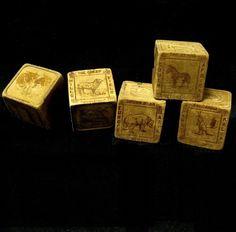 Victorian Toy Alphabet Wooden ABC Blocks from toniink on Ruby Lane Wooden Abc Blocks, Victorian Toys, Alphabet, Ruby Lane, 3d, Alpha Bet