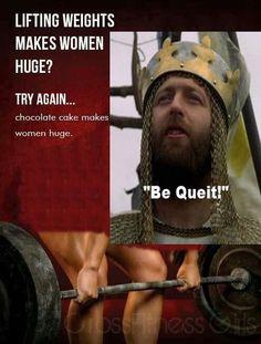 """Chocolate makes women huge """"Be quiet!"""""""