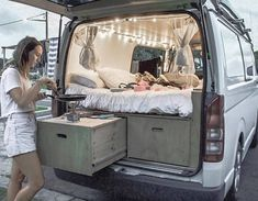 "21.1k Likes, 253 Comments - Vanlife | Nomad | Buslife (@project.vanlife) on Instagram: ""View from the back! We went with a 5 inch memory foam to give us the coziest sleep without taking…"""