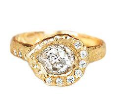 Custom Rough Diamond Ring