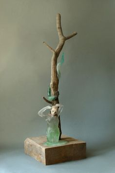 Christina Bothwell , EVE - glass/mixed media 42 X 14 1/2 X 15 1/4 inches, made in: 2008