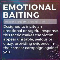 Emotional Baiting by Narcissist Partner in a Toxic Relationship. Signs of Emotional Abuse. Narcissistic People, Narcissistic Behavior, Narcissistic Sociopath, Narcissistic Mother, Narcissistic Abuse Recovery, Abusive Relationship, Toxic Relationships, Bad Relationship, Infp