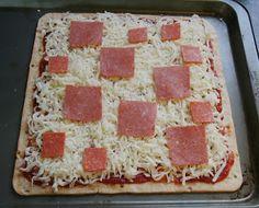 Minecraft square pizza