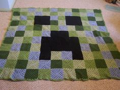 Another Creeper Blanket..Made this for my Grandson Soren for His Birthday. It is now on his bed and he loves it.