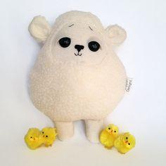 Lamb Toy - Baby Sheep Plush - Easter Toy Plush - Cream Fleece - Easter Basket
