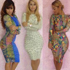 Hot Sexy! New Summer Dress 2014 Print Pop Rocks Bandage Bodycon Dress Women Evening Night Club Novelty Wholesale Vestidos $13.99