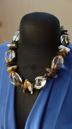 Organic shapes Bold Design chunky art to wear by MorningDoveDesign, $180.00