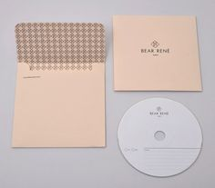 Bear Rene stationery designed by Marque. Simple logo + pattern motif. So refined.