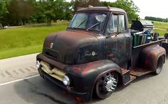 This 1955 Cab-Over Ford is Mad Max Maniacal