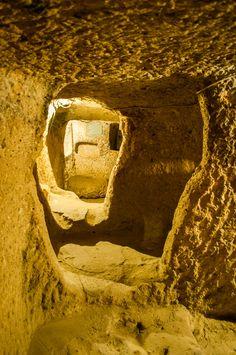 Underground city of Kaymakli in Cappadocia Turkey