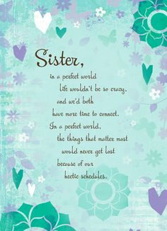 Sister Hearts Mother's Day Card