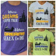 LSU Disney Shirt for Men / LSU Death Valley by MagicInMyVeins