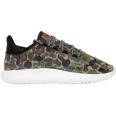 Adidas Originals Men Tubular Shadow Leather Sneakers (199 AUD) ❤ liked on Polyvore featuring men's fashion, men's shoes, men's sneakers, camouflage, mens sneakers, mens leather sneakers, mens camo sneakers, mens camo shoes and mens shoes
