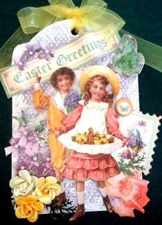 Hang tag Easter by Sandra Koliner #graphic45 #ATC ~ Wendy Schultz ~ Graphic 45 Projects.
