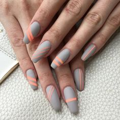 Coral and Grey Matte ❤