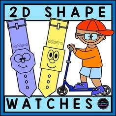 Shape Watches- Shape Watches Teach your students to recognize shapes with this FUN activity! Children should color their watch, cut it out and then wear it for the day. An ENGAGING way to get children excited about learning shapes! 2d Shapes Activities, Learning Shapes, Hands On Learning, Learning Activities, Teaching Ideas, 2d And 3d Shapes, Shape Games, 2nd Grade Math, Kindergarten Teachers