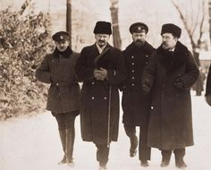 LeMOKapitel-Erster Weltkrieg-Kriegsverlauf-Friede von Brest-Litowsk: Die russische Verhandlungsdelegation mit Leo D. Trotzki, Dezember 1917