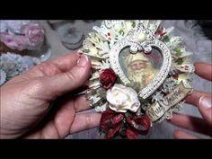 ▶ Christmas & Shabby Ornaments - YouTube Clear Ornaments, Paper Ornaments, Beaded Ornaments, Ornament Crafts, Xmas Ornaments, How To Make Ornaments, Christmas Crafts, Christmas Things, Shabby Chic Christmas Ornaments