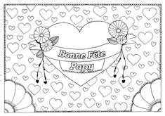 Valentine's Day - Coloring Pages for Adults Dover Coloring Pages, Quote Coloring Pages, Free Adult Coloring Pages, Free Printable Coloring Pages, Coloring Sheets, Colouring, Coloring Books, Fathers Day Coloring Page, Valentines Day Coloring Page